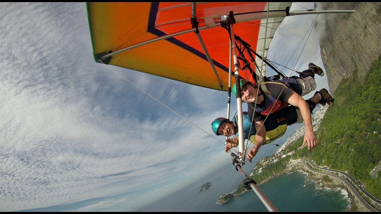 Nosso voo de asa delta no Rio de Janeiro
