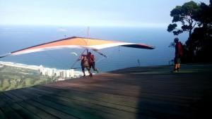 Voando de asa delta com Assad no Rio de Janeiro