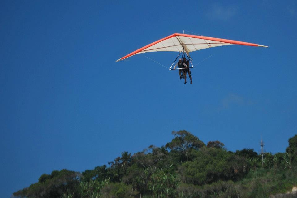 Saltando de asa delta no Rio de Janeiro