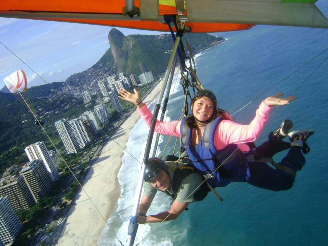 Voar de asa delta no Rio de Janeiro