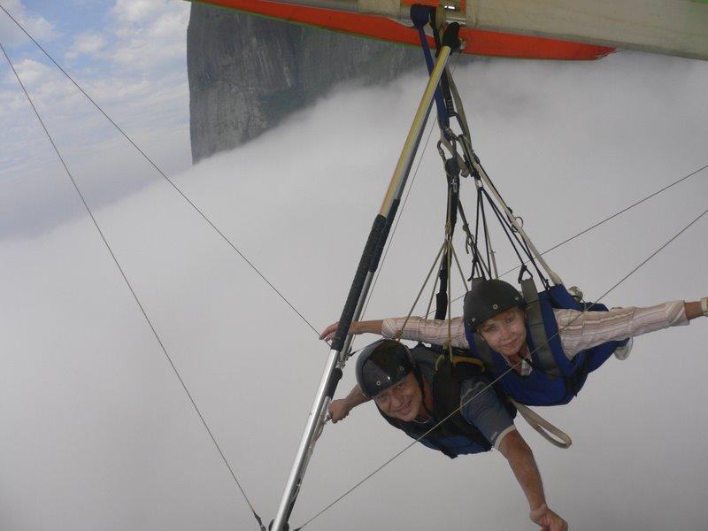 Voo duplo de asa delta no Rio de Janeiro