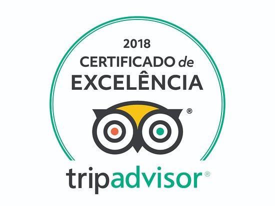 Cwertificado de Excelência Trip Advisor 2018 Asa Delta Tour